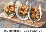 tacos with spicy cauliflower | Shutterstock . vector #1085423429