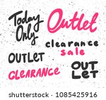 today only  outlet  clearance ... | Shutterstock .eps vector #1085425916