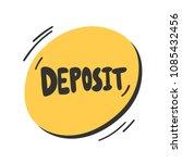 deposit. sticker for social... | Shutterstock .eps vector #1085432456