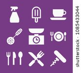 filled food icon set such as... | Shutterstock .eps vector #1085433044