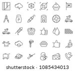 thin line icon set   drawing... | Shutterstock .eps vector #1085434013