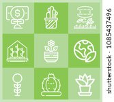 outline plant icon set such as... | Shutterstock .eps vector #1085437496