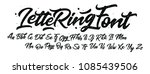 Lettering Font Isolated On...
