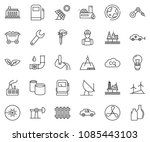 thin line icon set   offshore... | Shutterstock .eps vector #1085443103