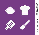 filled cooking icon set such as ...   Shutterstock .eps vector #1085443160