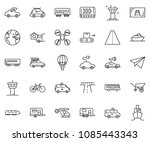 thin line icon set   home... | Shutterstock .eps vector #1085443343