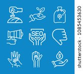outline hand icon set such as...   Shutterstock .eps vector #1085453630