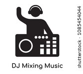 dj mixing music icon isolated... | Shutterstock .eps vector #1085454044