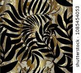 Abstract Gold Baroque Vector...