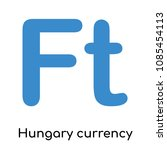 hungary currency icon isolated... | Shutterstock .eps vector #1085454113