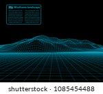 wireframe landscape wire.... | Shutterstock .eps vector #1085454488