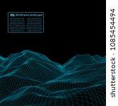 wireframe landscape wire.... | Shutterstock .eps vector #1085454494