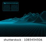 wireframe landscape wire.... | Shutterstock .eps vector #1085454506