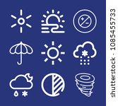 outline weather icon set such... | Shutterstock .eps vector #1085455733