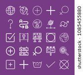 outline signs icon set such as... | Shutterstock .eps vector #1085455880