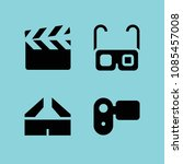 filled filming icon set such as ... | Shutterstock .eps vector #1085457008