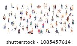 crowd of tiny people walking... | Shutterstock .eps vector #1085457614