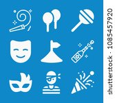 filled party icon set such as... | Shutterstock .eps vector #1085457920