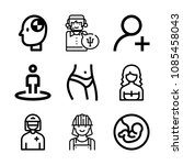 outline people icon set such as ... | Shutterstock .eps vector #1085458043