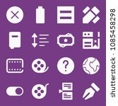 filled interface icon set such... | Shutterstock .eps vector #1085458298