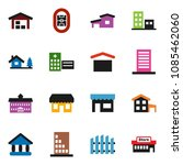 solid vector icon set  ... | Shutterstock .eps vector #1085462060