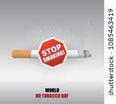world no tobacco day stop... | Shutterstock .eps vector #1085463419