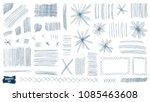 doodles set. scribble... | Shutterstock .eps vector #1085463608