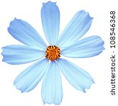 Stock photo blue flower isolated on a white background 108546368