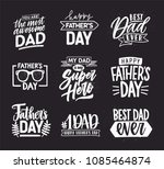 happy fathers day lettering... | Shutterstock .eps vector #1085464874