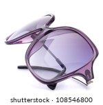 Stylish female sunglasses isolated on white background cutout - stock photo