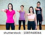 a group of four beautiful women ... | Shutterstock . vector #1085468066