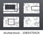 set of white  black and silver... | Shutterstock .eps vector #1085470424