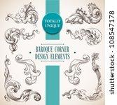 baroque corner design elements... | Shutterstock .eps vector #108547178
