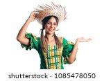 brazilian woman wearing typical ...   Shutterstock . vector #1085478050