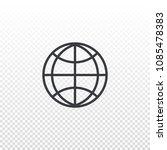 vector outline globe icon....