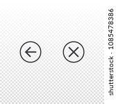 circle vector icon backward and ...