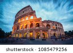 colosseum in rome  italy   long ... | Shutterstock . vector #1085479256