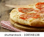 homemade  Margarita pizza with tomatoes  and cheese - stock photo