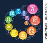 multi vitamin complex poster... | Shutterstock .eps vector #1085484278