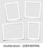 photo frames with realistic... | Shutterstock .eps vector #1085484986