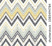 abstract zigzag pattern for... | Shutterstock .eps vector #1085494784