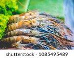shrimp in restaurant preparation   Shutterstock . vector #1085495489