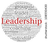 leadership concept in word tag... | Shutterstock . vector #108550430