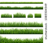 big set green grass borders... | Shutterstock .eps vector #1085504549