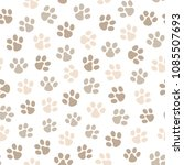 paw seamless pattern. great for ...   Shutterstock .eps vector #1085507693