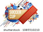 football background 2018 place... | Shutterstock .eps vector #1085510210
