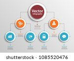 business hierarchy organogram... | Shutterstock .eps vector #1085520476