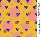 girlie lovely pattern. | Shutterstock .eps vector #1085521040