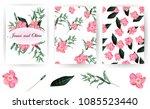 flowers. wedding invitations.... | Shutterstock .eps vector #1085523440