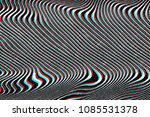 glitch psychedelic background.... | Shutterstock . vector #1085531378